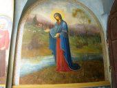 Фреская Пюхтинская Божья Матерь