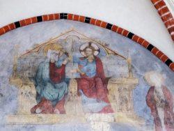 Коронация Марии на небесах. Фреска 14 века.