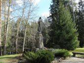 Lūznavas parks. Sv. Marijas skulptūra.