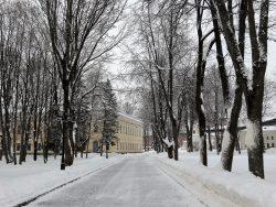 Аллея в Новгородском Кремле
