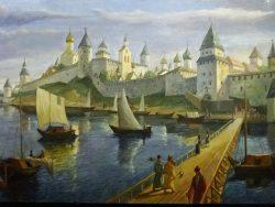 Древний Псков. Картина художника Матвея Шведенкова.