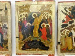 Икона праздничного чина Воскресение - сошествие во ад.