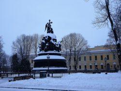 Памятник Тысячелетию Росии - 1862 год