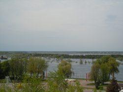 Вид на реку Припять с замкового холма в Мозыре
