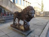 Лев у военного музея